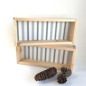 Scandinavian Wood Decorative Shelves - Set of 2